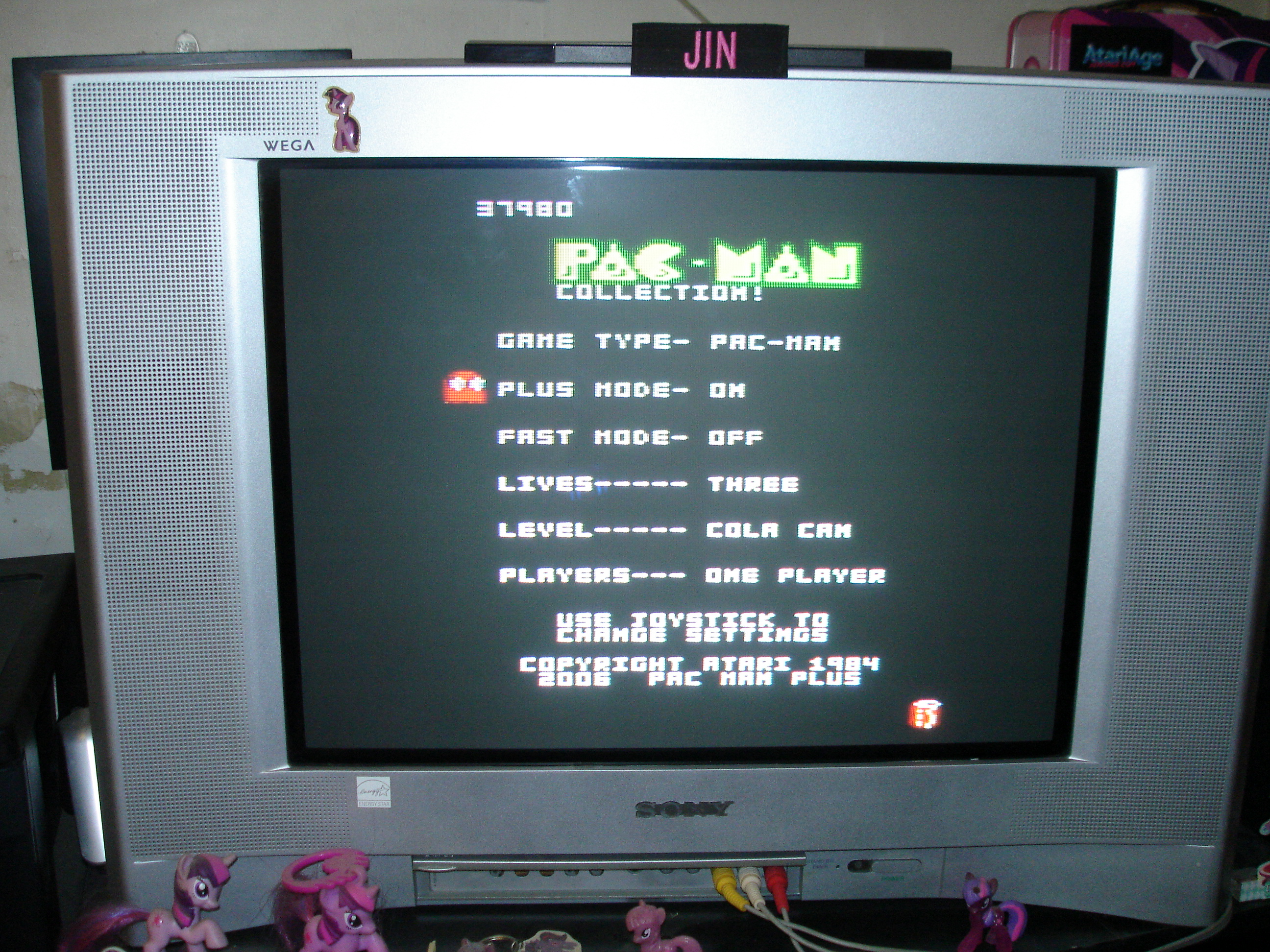 Pac-Man Collection: Pac-Man [Cola/Plus On/Fast Off] 37,980 points