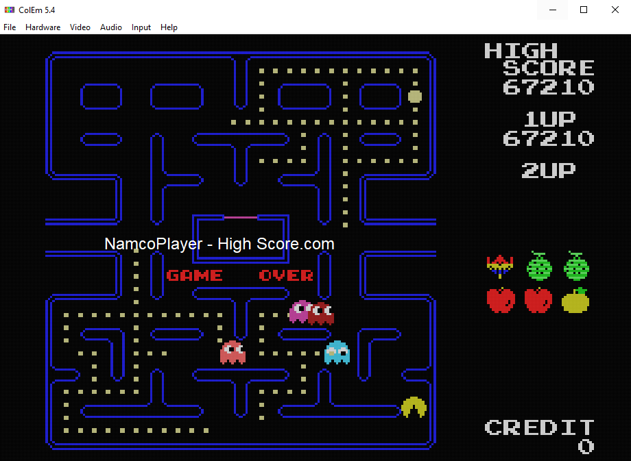 NamcoPlayer: Pac-Man Collection: Pac-Man (Colecovision Emulated) 67,210 points on 2021-01-02 08:55:05