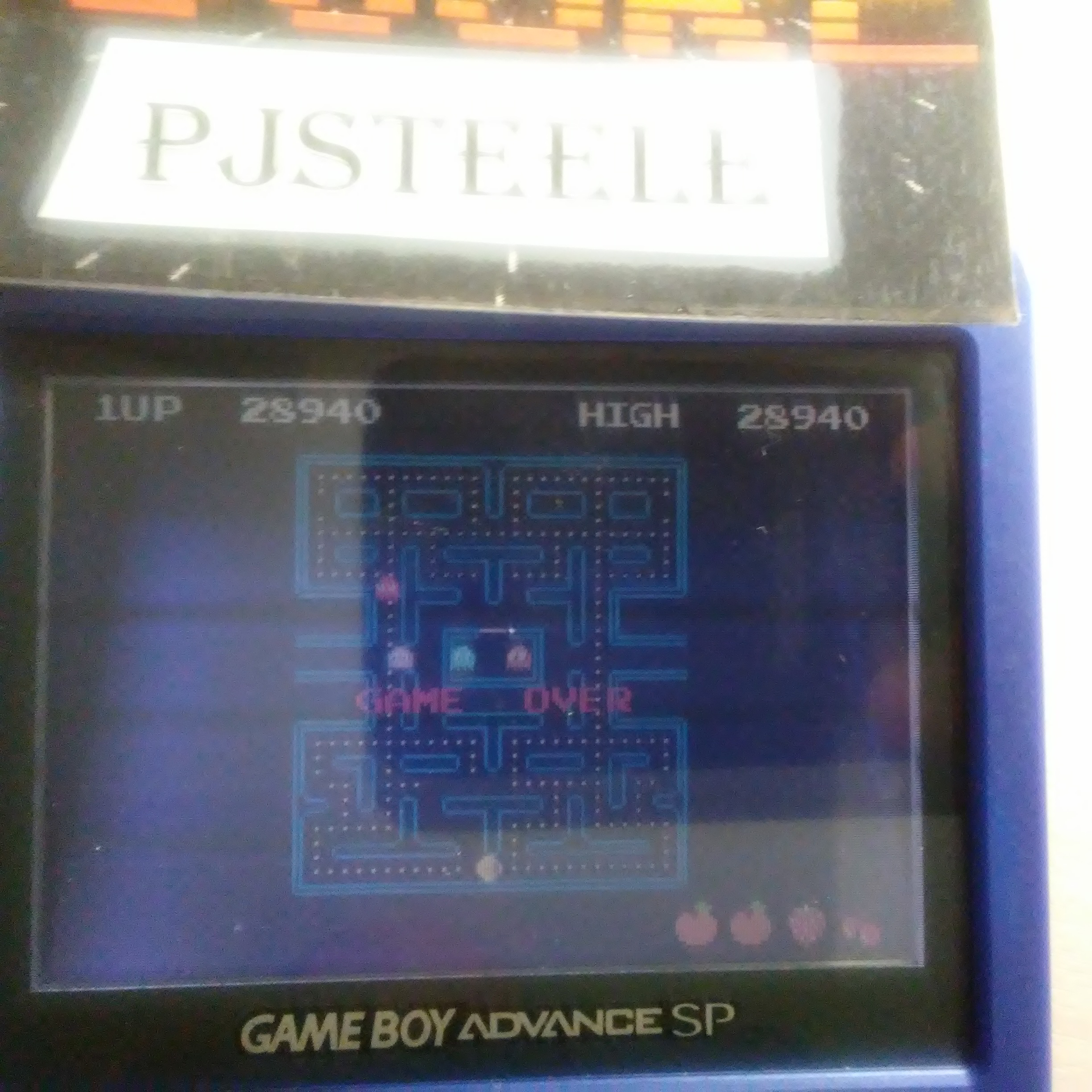 Pjsteele: Pac-Man Collection: Pac-Man (GBA) 28,940 points on 2018-11-13 06:58:26