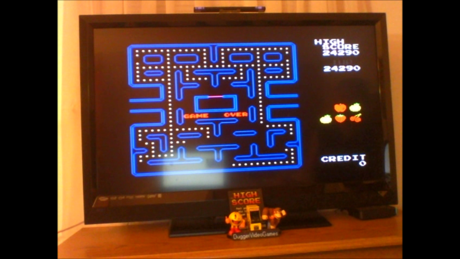 DuggerVideoGames: Pac-Man Collection: Pac-Man [Hard] (Colecovision Emulated) 24,290 points on 2017-02-11 01:08:11