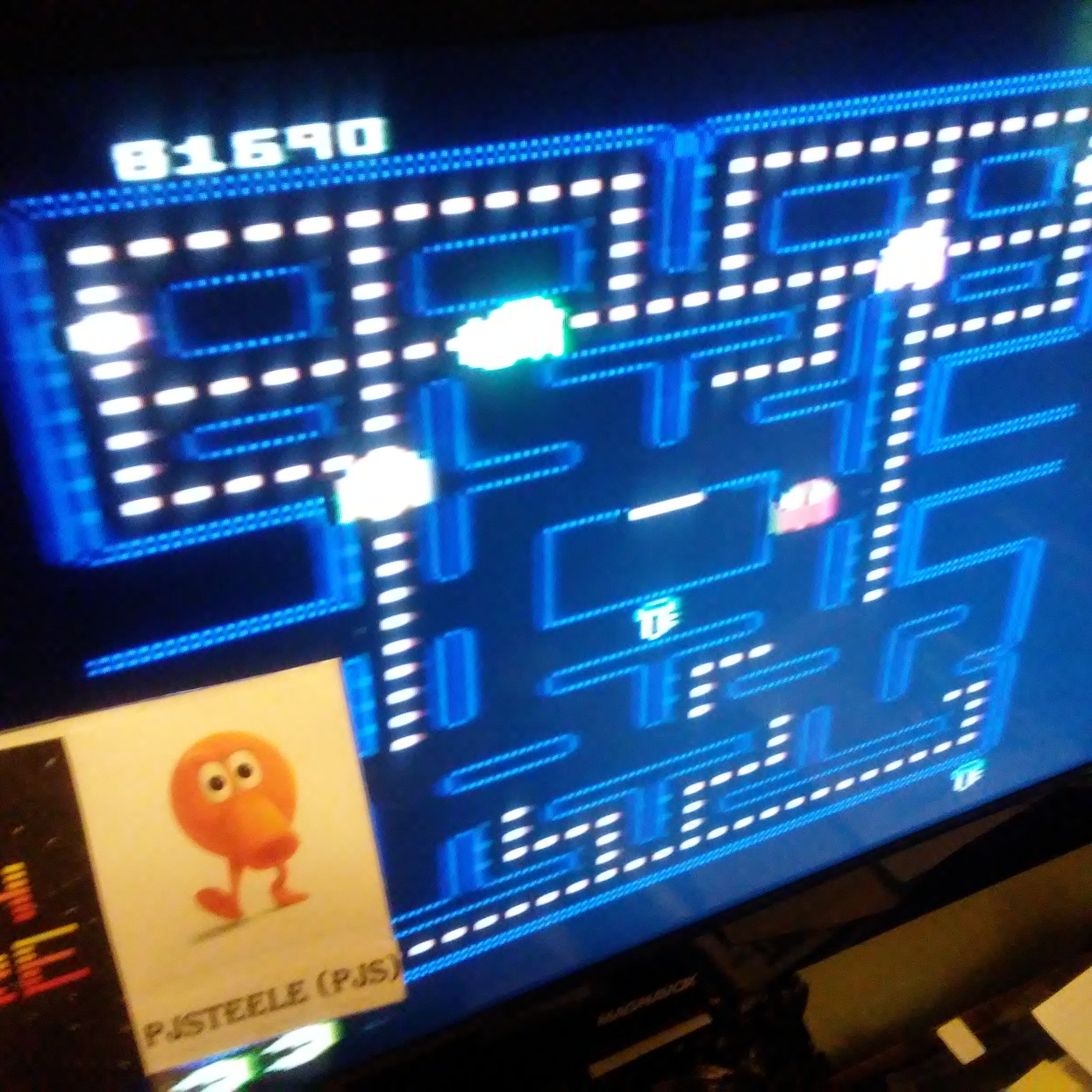 Pac-Man Collection: Pac-Man [Key/Plus Off/Fast On] 81,690 points