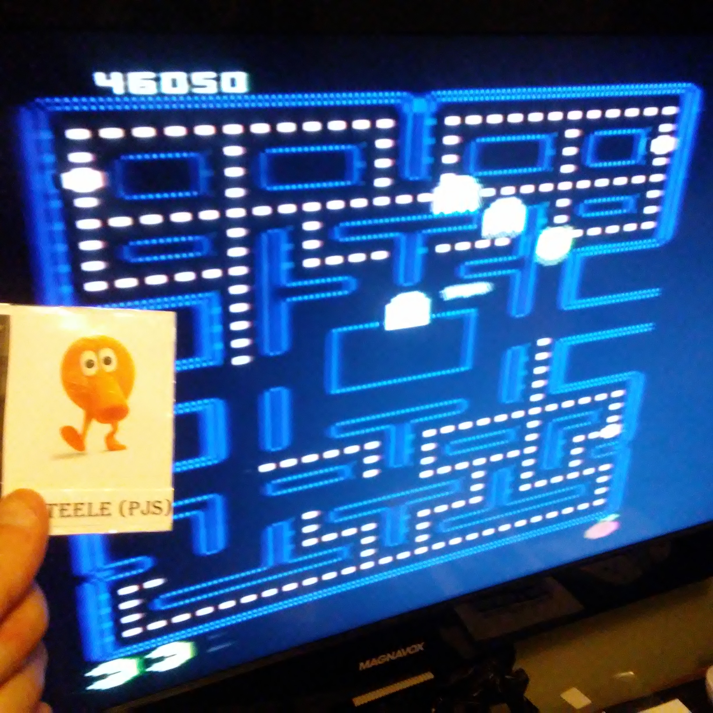 Pac-Man Collection: Pac-Man [Orange One/Plus Off/Fast On] 46,050 points