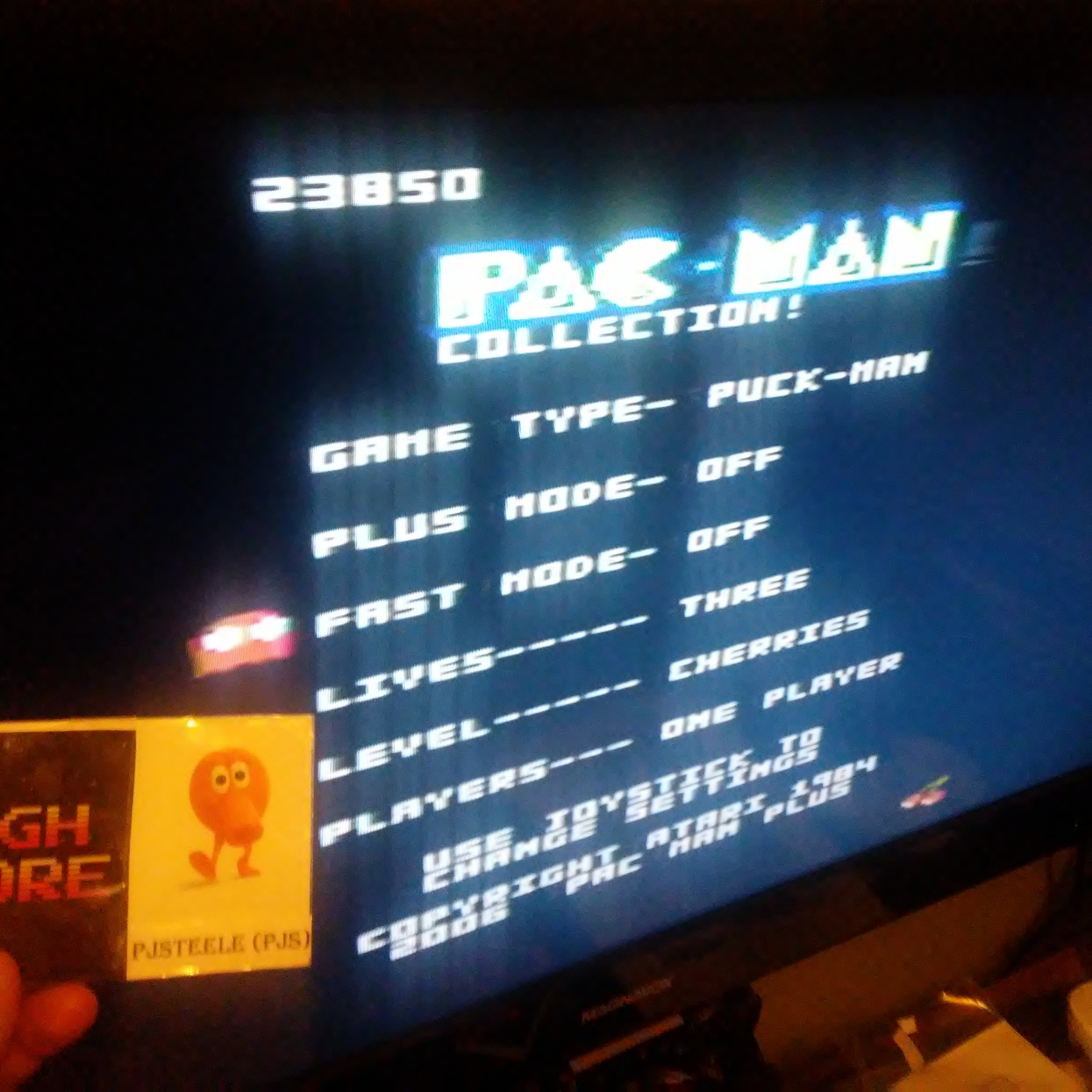 Pac-Man Collection: Puck Man [Cherries/Plus Off/Fast Off] 23,850 points