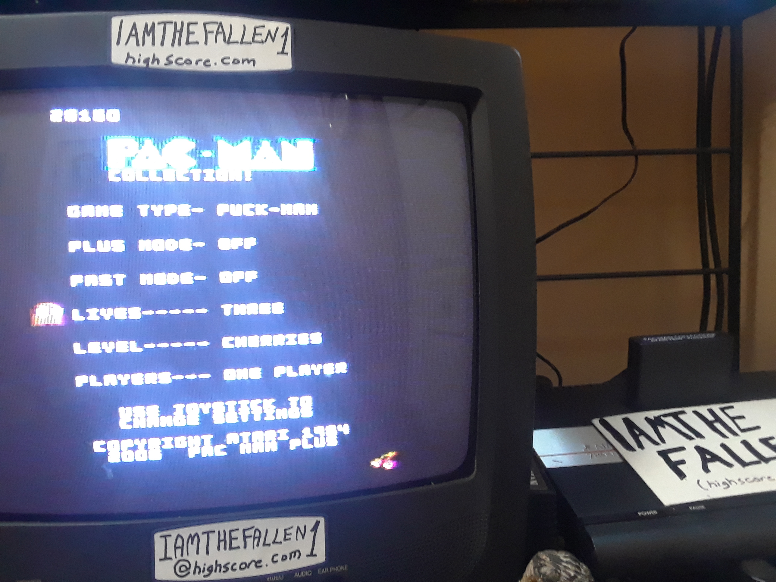iamthefallen1: Pac-Man Collection: Puck Man [Cherries/Plus Off/Fast Off] (Atari 7800) 28,160 points on 2019-01-31 18:24:46