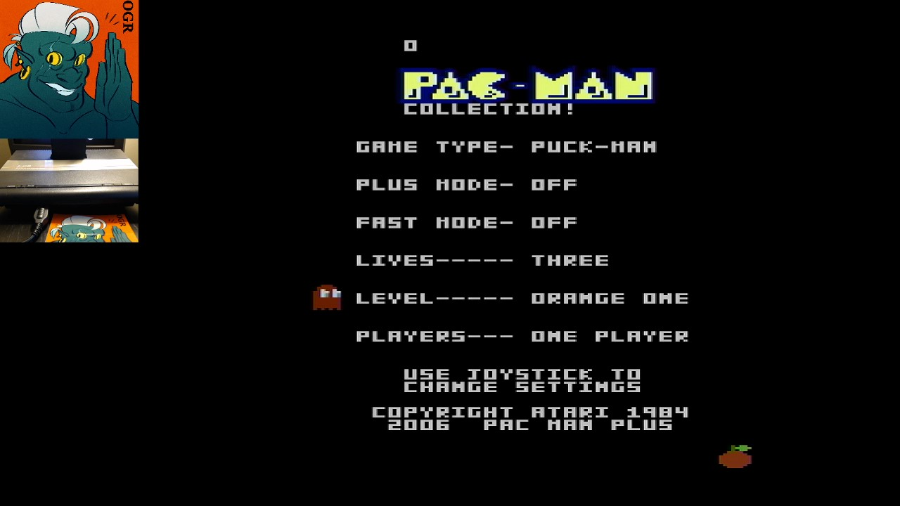 AwesomeOgre: Pac-Man Collection: Puck-Man [Orange One/Plus Off/Fast Off] (Atari 7800) 21,260 points on 2020-05-17 00:35:05