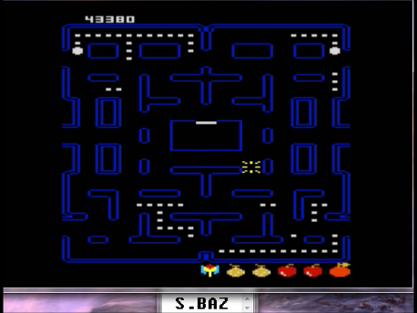 S.BAZ: Pac-Man Collection: Puck-Man [Orange Two/Plus Off/Fast Off] (Atari 7800 Emulated) 43,380 points on 2016-02-28 17:42:19