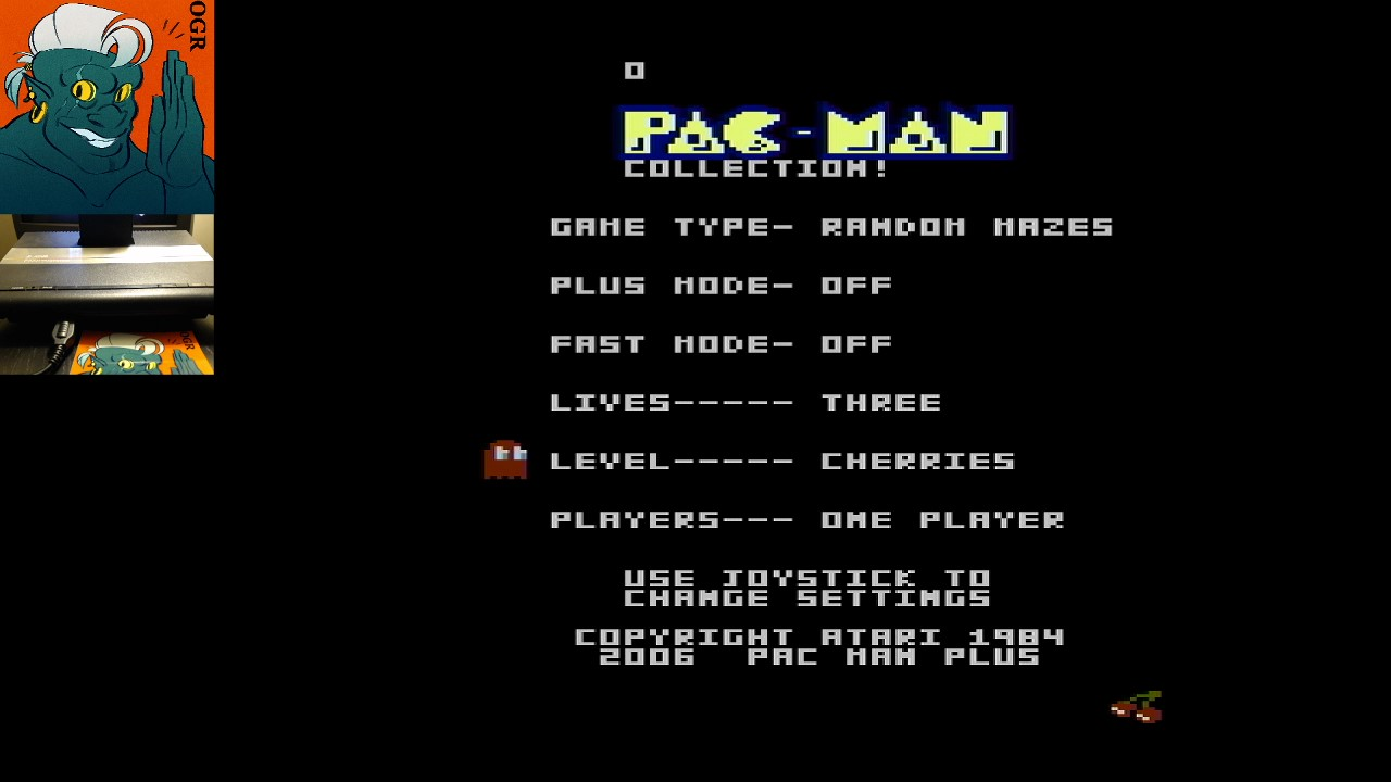 AwesomeOgre: Pac-Man Collection: Random [Cherries/Plus Off/Fast Off] (Atari 7800) 24,210 points on 2020-05-17 00:38:11