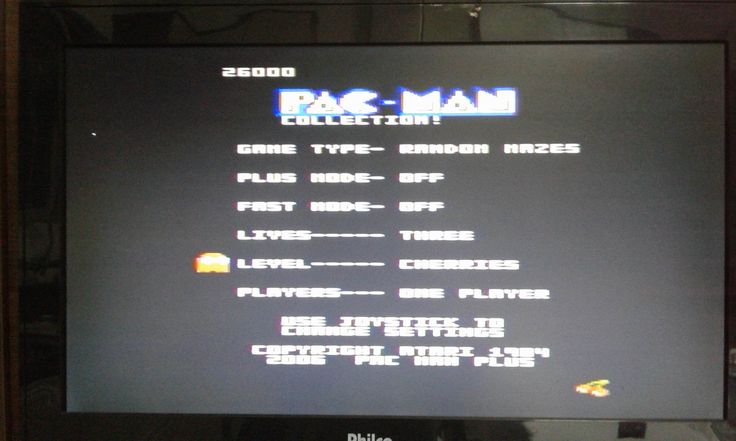 oyamafamily: Pac-Man Collection: Random [Cherries/Plus Off/Fast Off] (Atari 7800) 26,000 points on 2020-05-28 20:29:49
