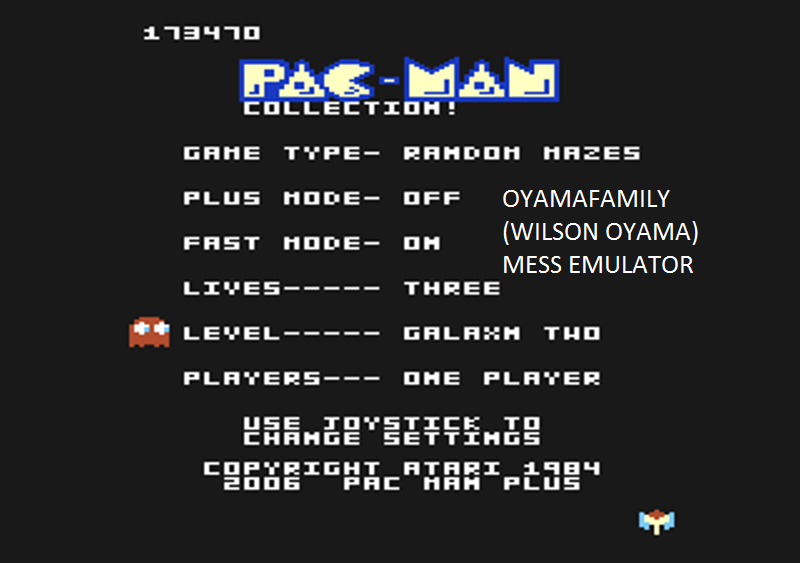 oyamafamily: Pac-Man Collection: Random [Galaxian Two/Plus Off/Fast On] (Atari 7800 Emulated) 173,470 points on 2016-02-14 11:26:00