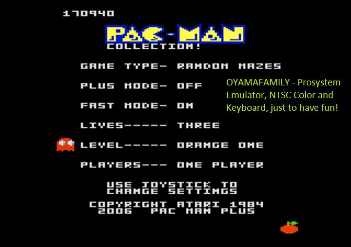 oyamafamily: Pac-Man Collection: Random [Orange One/Plus Off/Fast On] (Atari 7800 Emulated) 170,940 points on 2018-08-12 18:22:53