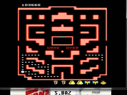 S.BAZ: Pac-Man Collection: Random [Orange Two/Plus Off/Fast On] (Atari 7800 Emulated) 103,660 points on 2016-03-02 00:39:31