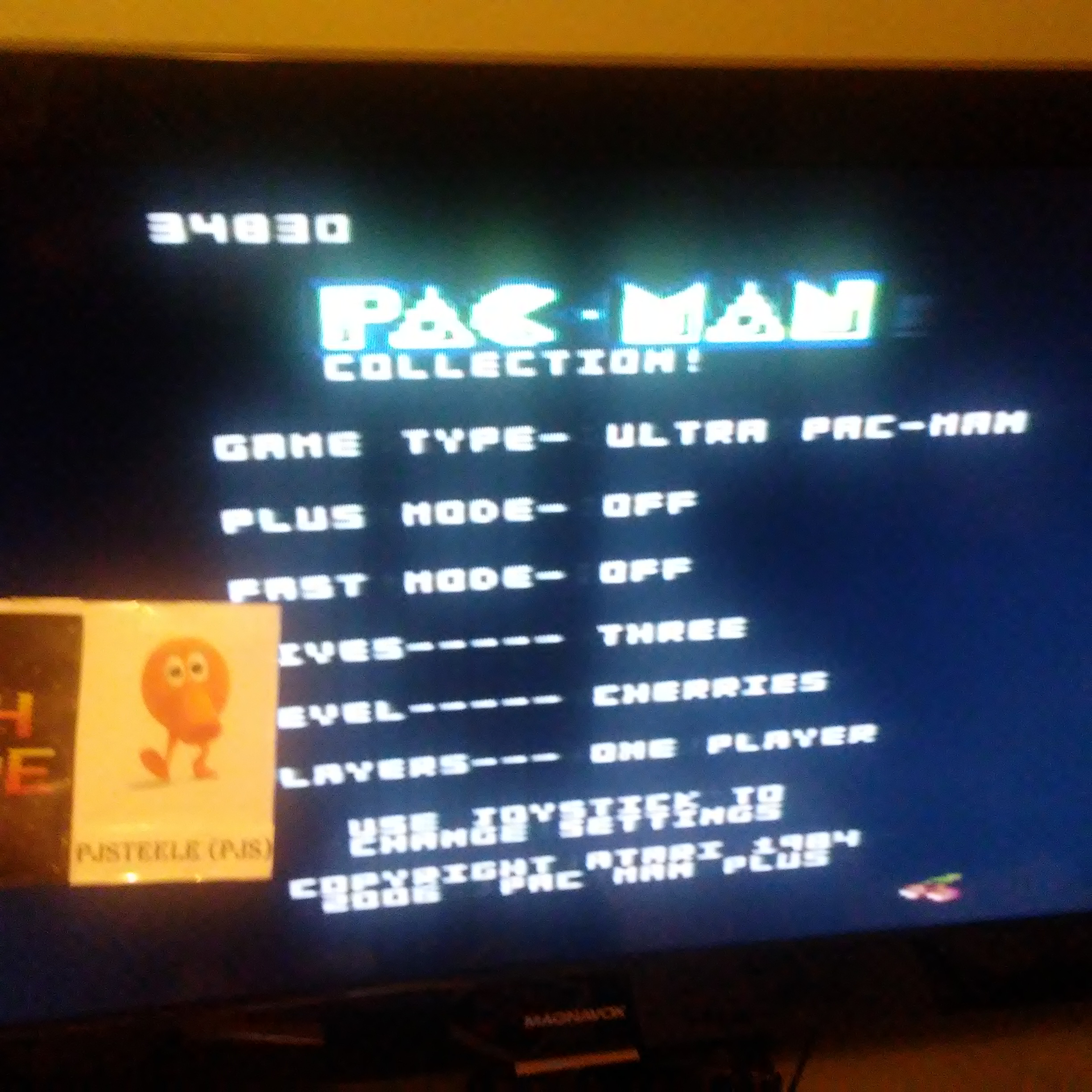 Pjsteele: Pac-Man Collection: Ultra Pac-Man [Cherries/Plus Off/Fast Off] (Atari 7800) 34,830 points on 2018-07-05 22:17:05
