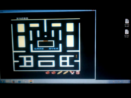 S.BAZ: Pac-Man Collection: Ultra Pac-Man [Cherries/Plus On/Fast On] (Atari 7800 Emulated) 34,280 points on 2016-02-11 02:06:36