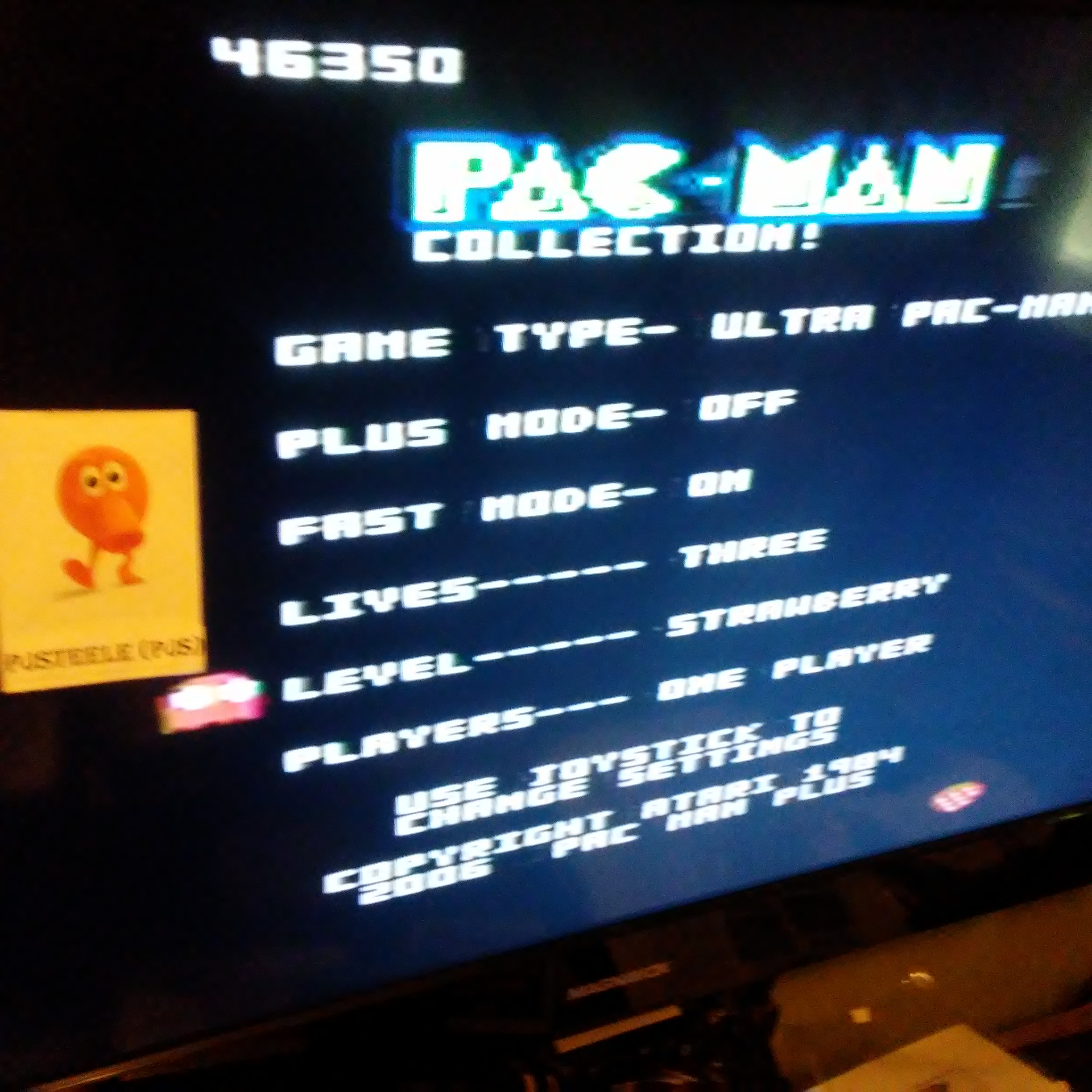 Pjsteele: Pac-Man Collection: Ultra Pac-Man [Strawberry/Plus Off/Fast On] (Atari 7800) 46,350 points on 2018-07-06 18:09:54