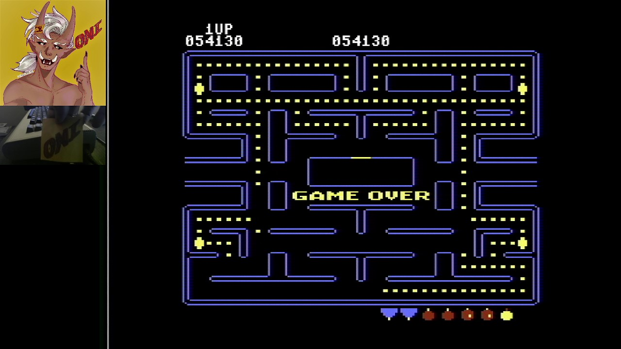 OniDensetsu: Pac-Man (Commodore 64) 54,130 points on 2021-02-08 11:32:05