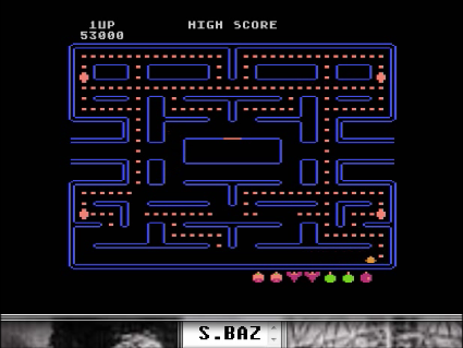 S.BAZ: Pac-Man [Datasoft]: Apple Start (Atari 400/800/XL/XE Emulated) 53,000 points on 2016-05-23 18:03:37