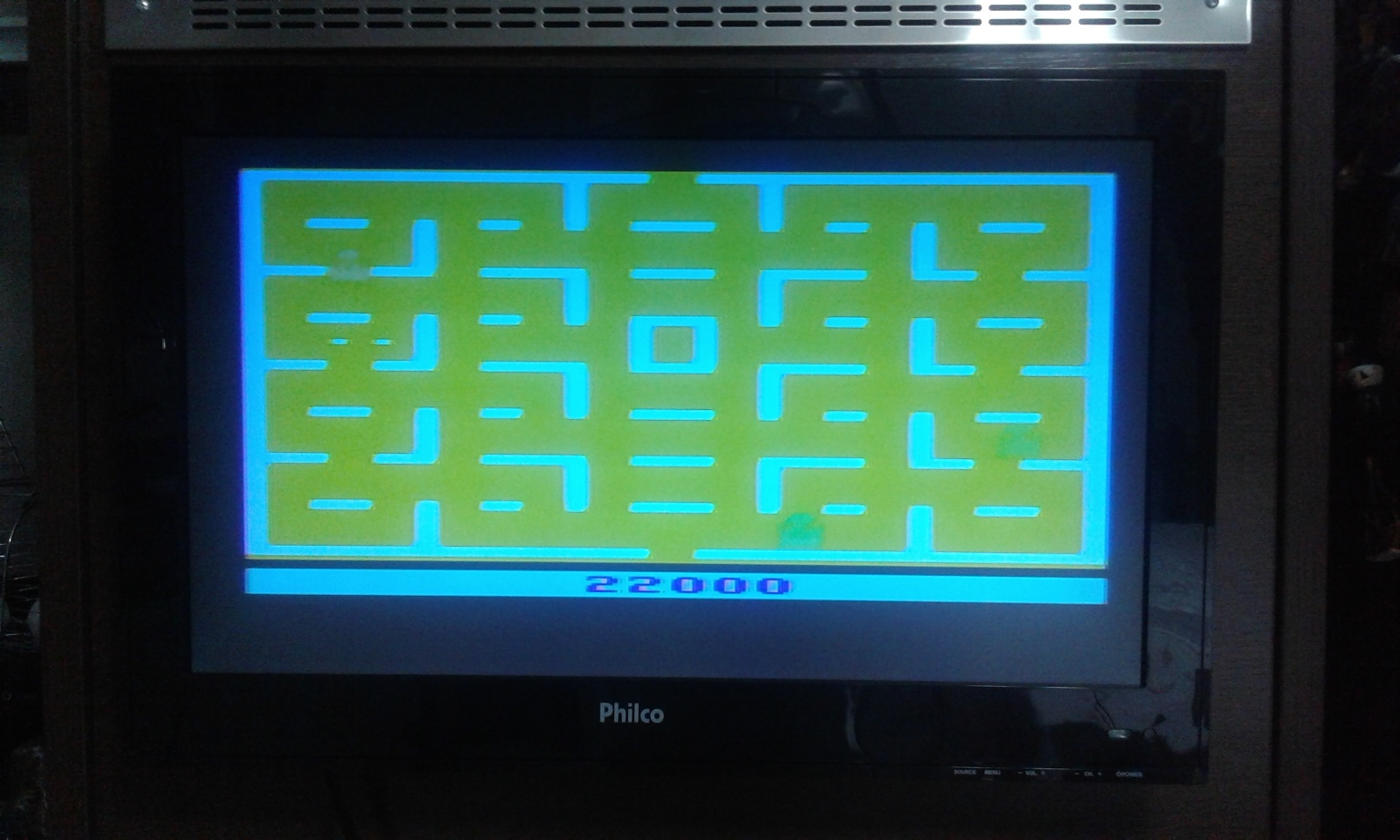 oyamafamily: Pac-Man: Game 3 (Atari 2600 Novice/B) 22,000 points on 2017-02-02 18:32:27