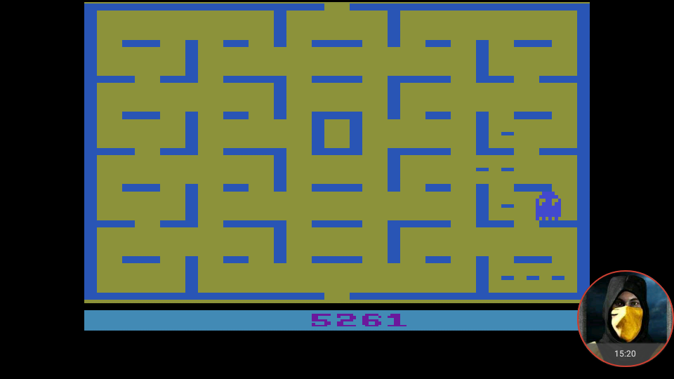 omargeddon: Pac-Man: Game 3 (Atari 2600 Emulated Expert/A Mode) 5,261 points on 2018-04-13 19:33:47
