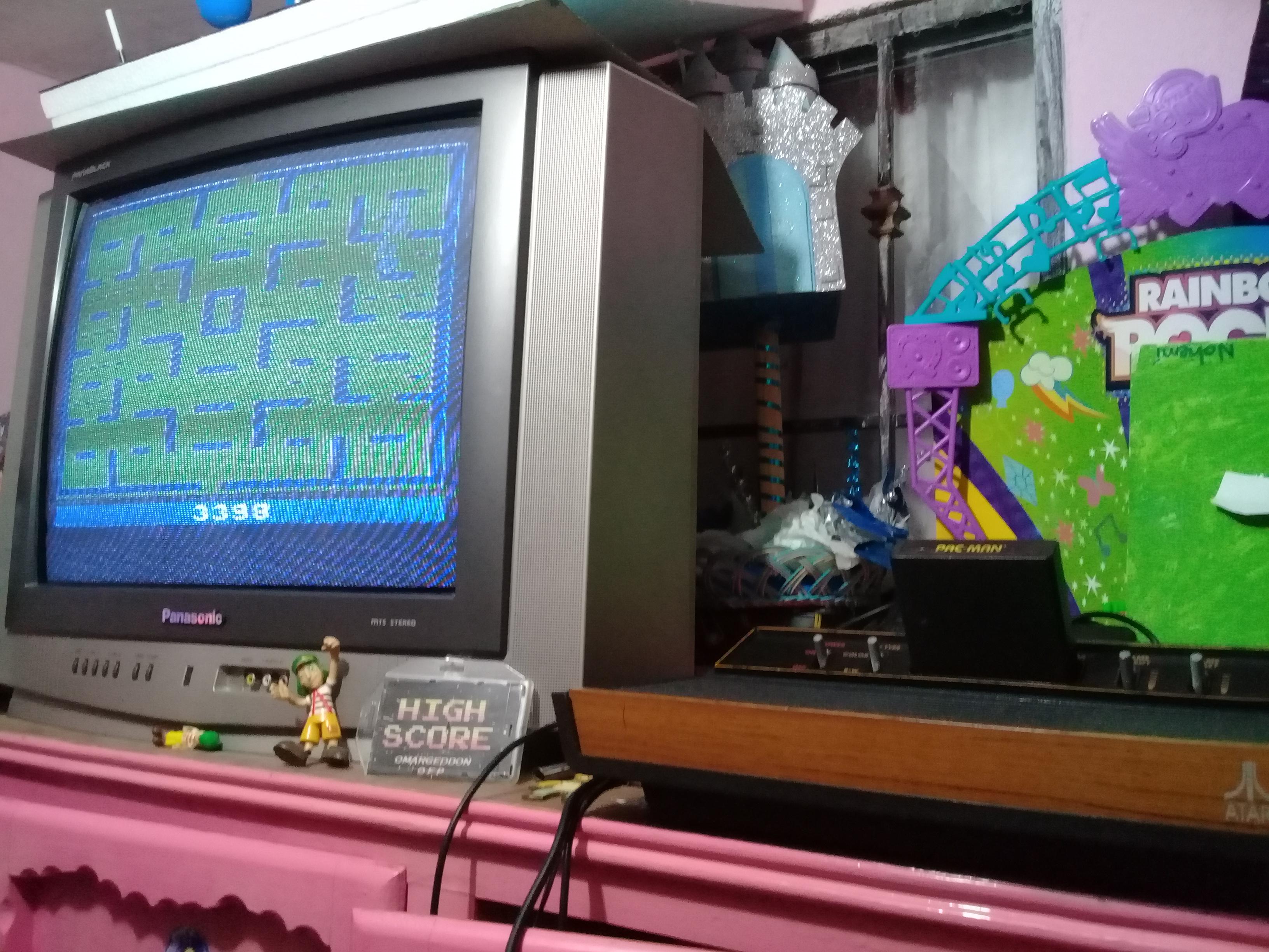 omargeddon: Pac-Man: Game 5 (Atari 2600 Expert/A) 3,398 points on 2019-01-07 21:25:18