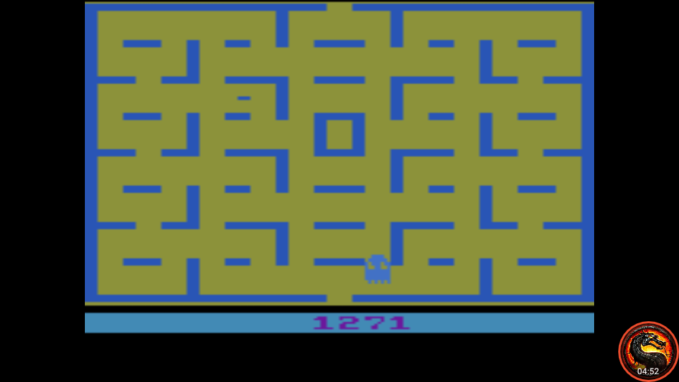 omargeddon: Pac-Man: Game 5 (Atari 2600 Emulated Expert/A Mode) 1,271 points on 2020-05-31 01:12:36