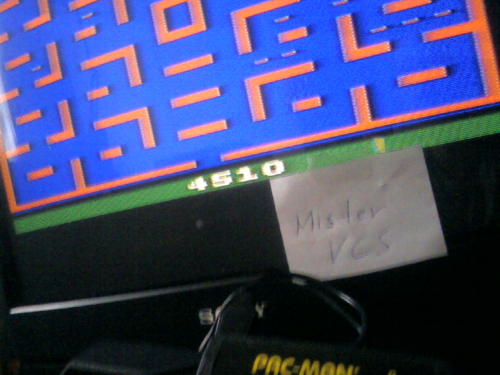 MisterVCS: Pac-Man: Game 6 (Atari 2600 Expert/A) 4,510 points on 2016-02-21 03:31:52
