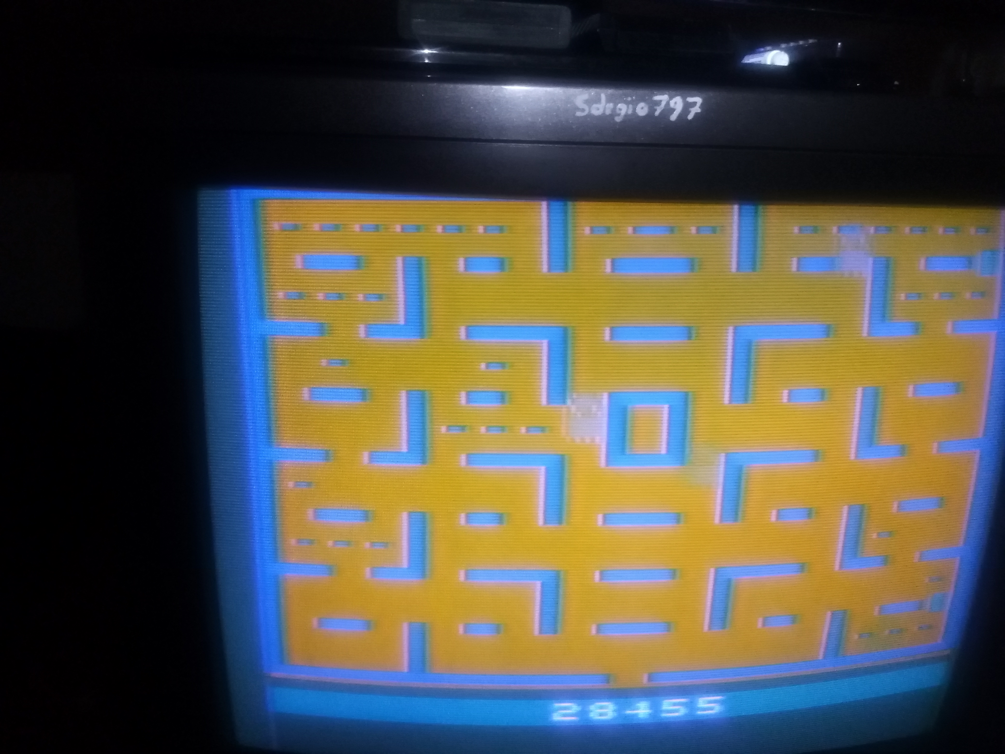 Sdrgio797: Pac-Man: Game 6 (Atari 2600 Novice/B) 28,455 points on 2020-07-02 11:49:24