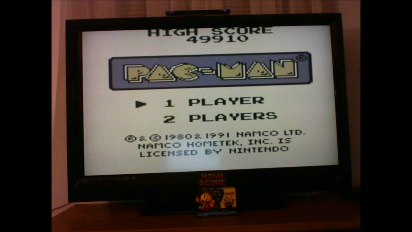 DuggerVideoGames: Pac-Man (Game Boy Emulated) 49,910 points on 2017-01-14 18:53:49