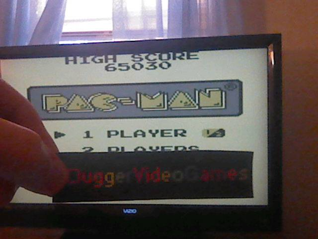 DuggerVideoGames: Pac-Man (Game Boy Emulated) 65,030 points on 2017-12-07 15:05:34