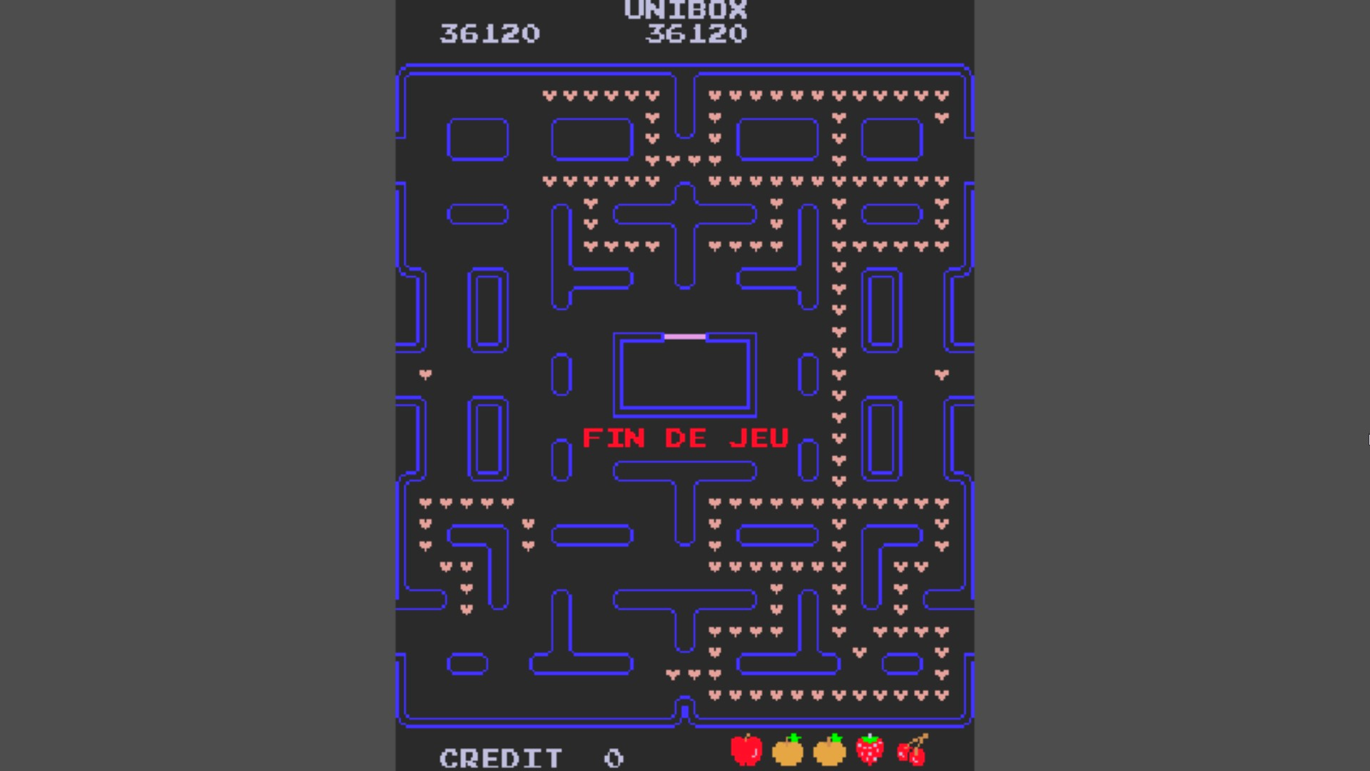 AkinNahtanoj: Pac-Man [Hearts] [pacheart] (Arcade Emulated / M.A.M.E.) 36,120 points on 2020-10-19 04:58:00