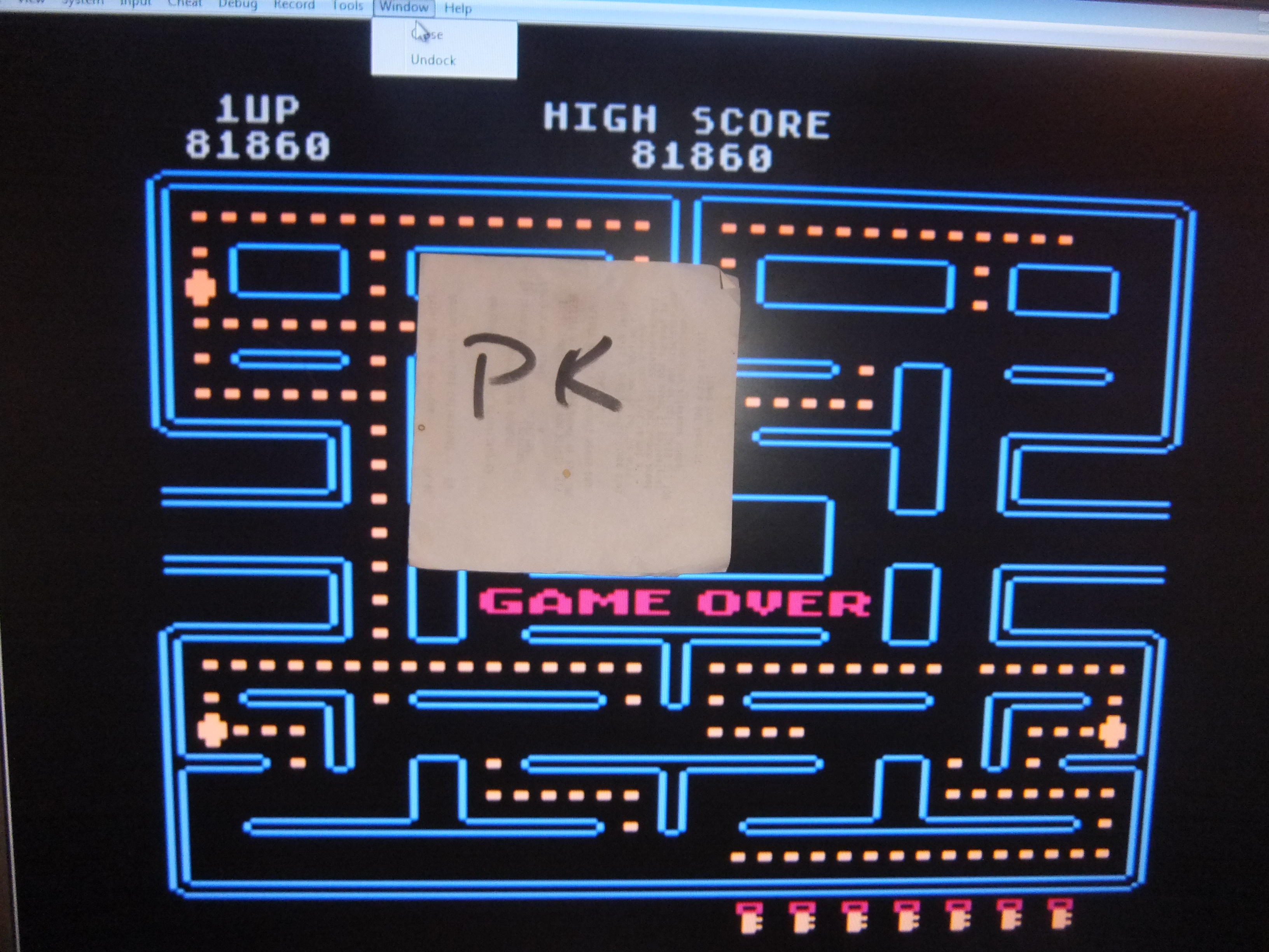 kernzy: Pac-Man [Key Start] (Atari 400/800/XL/XE Emulated) 81,860 points on 2015-10-14 19:22:38
