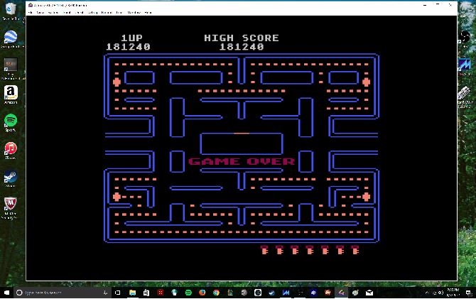 MikeDietrich: Pac-Man [Key Start] (Atari 400/800/XL/XE Emulated) 181,240 points on 2017-08-03 14:41:27