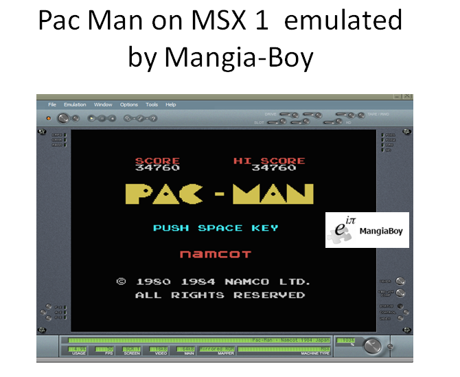 MangiaBoy: Pac-Man (MSX Emulated) 34,760 points on 2016-12-30 16:44:08