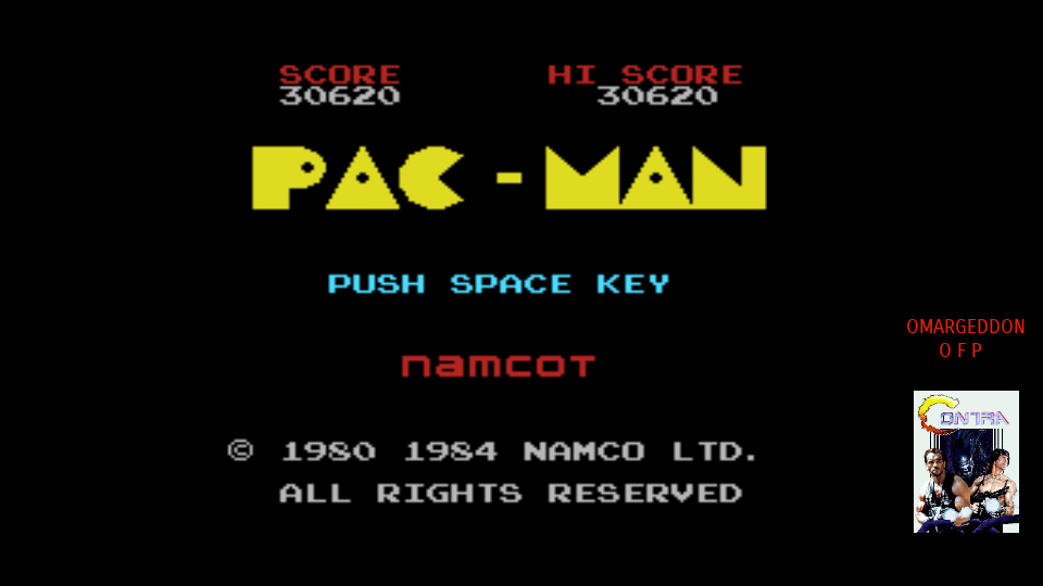 omargeddon: Pac-Man (MSX Emulated) 30,620 points on 2017-10-14 20:10:50