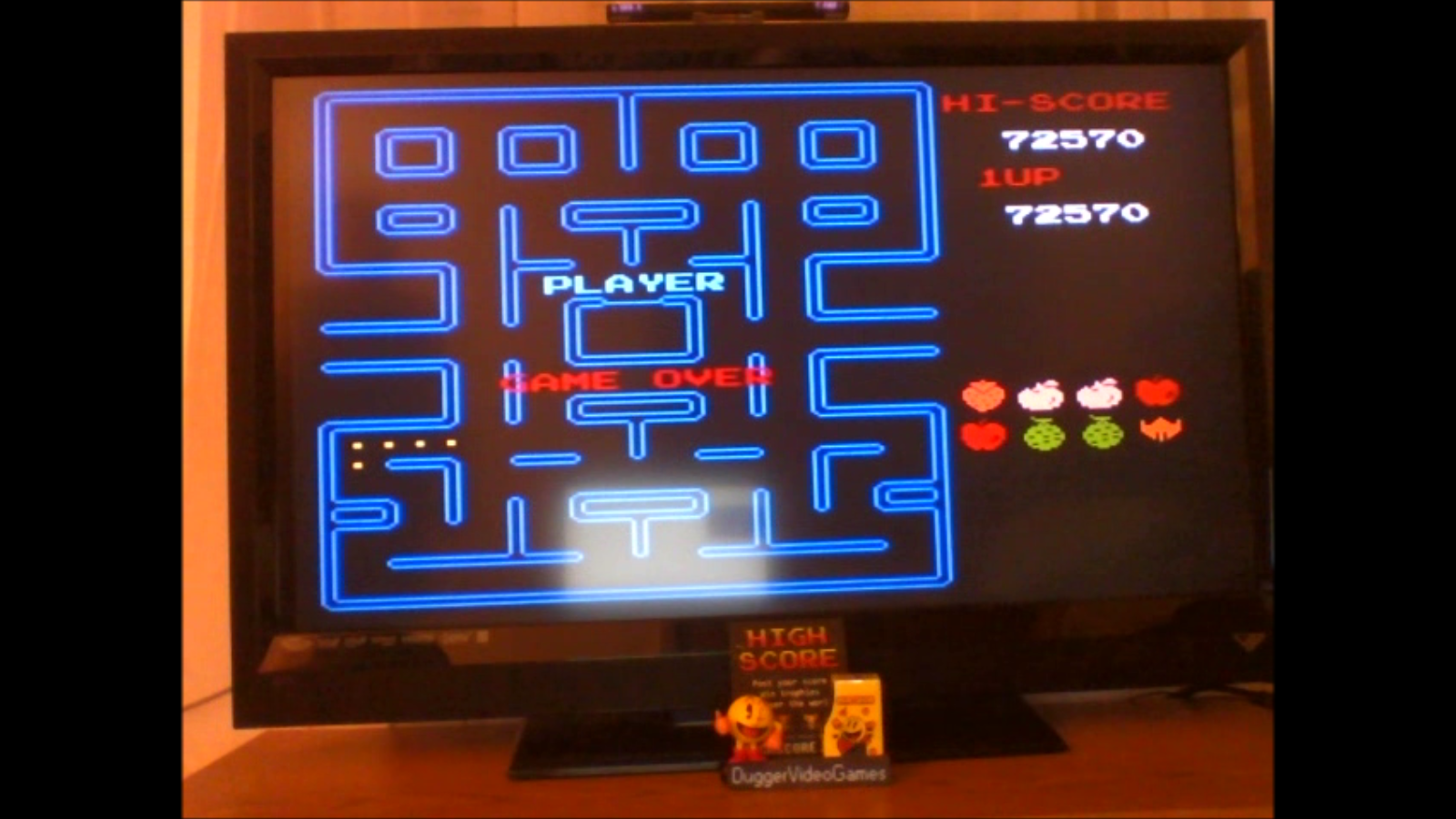 DuggerVideoGames: Pac-Man (NES/Famicom Emulated) 72,570 points on 2016-11-19 04:21:38