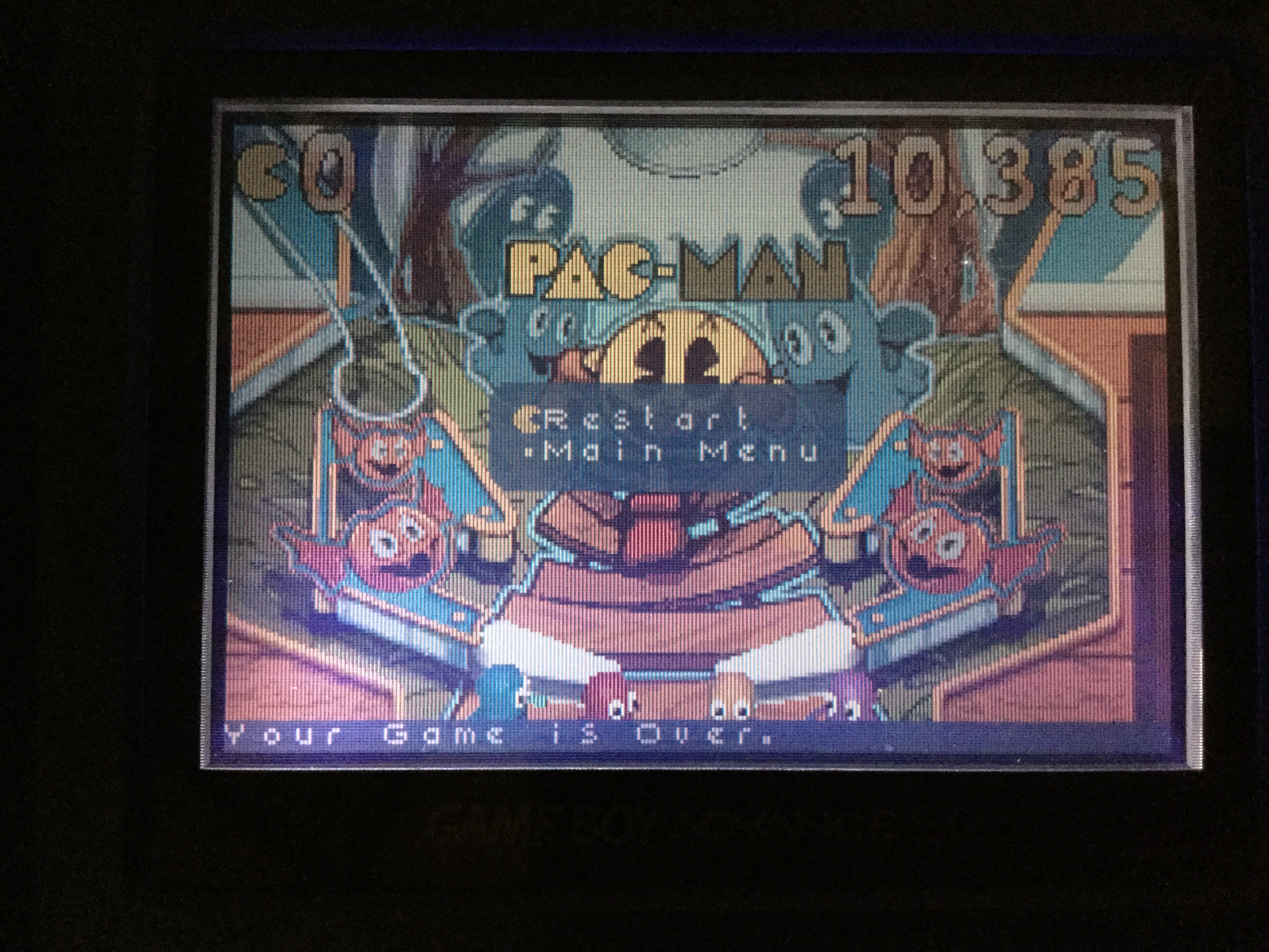 Frankie: Pac-Man Pinball Advance: Haunted Boardwalk Classic Table (GBA) 10,385 points on 2018-04-30 16:35:13