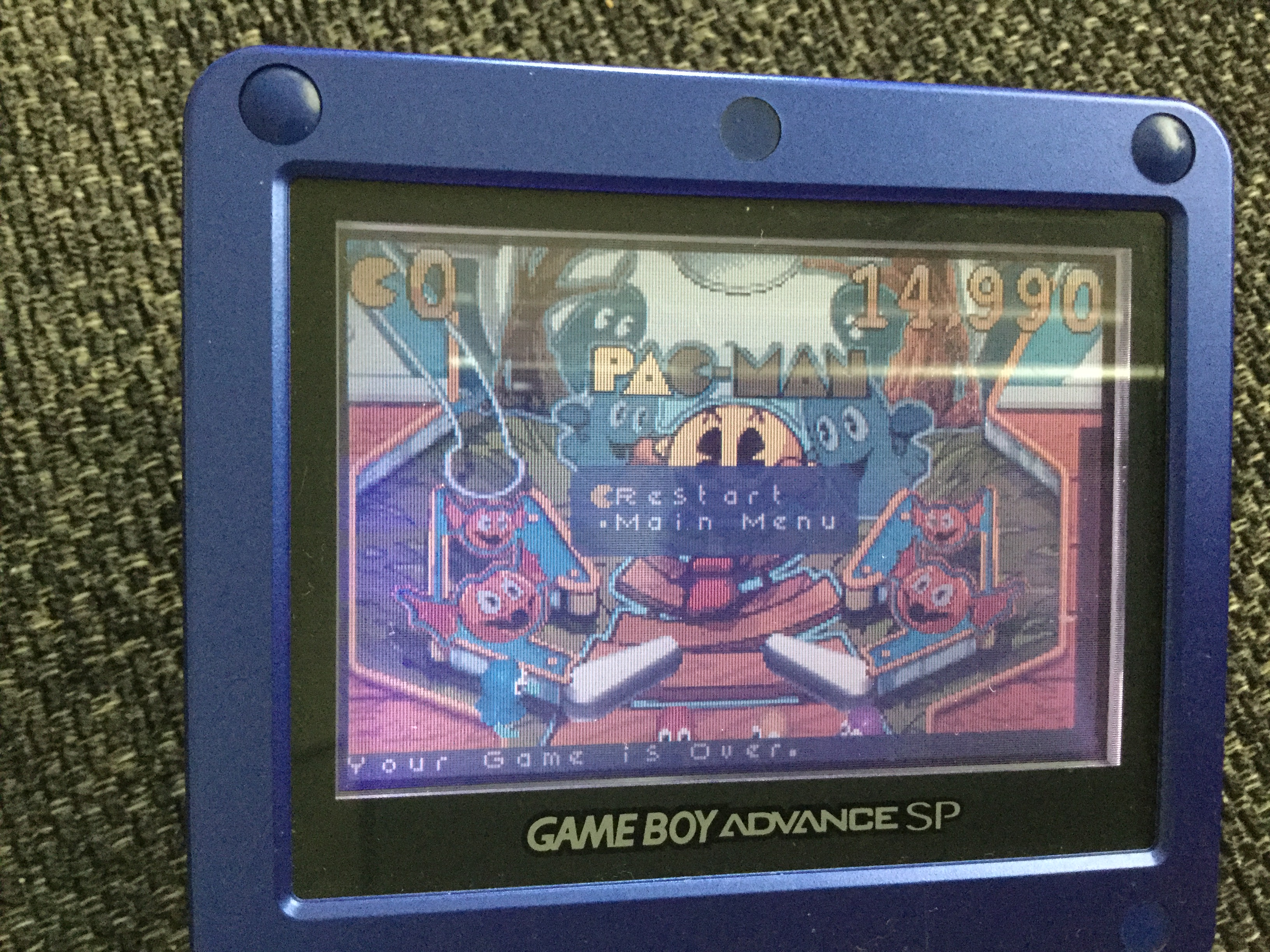 Frankie: Pac-Man Pinball Advance: Haunted Boardwalk Classic Table (GBA) 14,990 points on 2018-05-10 08:04:02