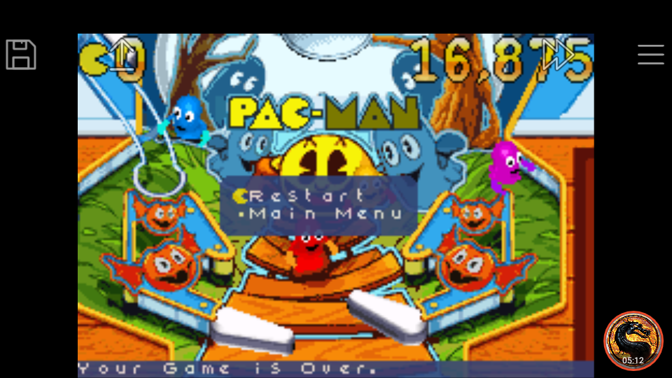 omargeddon: Pac-Man Pinball Advance: Haunted Boardwalk Classic Table (GBA Emulated) 16,875 points on 2018-12-09 19:13:09