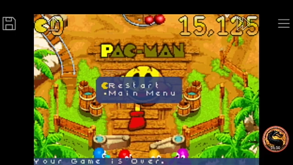 omargeddon: Pac-Man Pinball Advance: Haunted Boardwalk Table (GBA Emulated) 15,125 points on 2018-12-09 23:51:48
