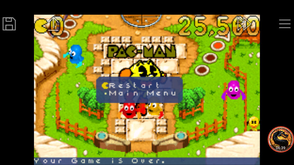 omargeddon: Pac-Man Pinball Advance: Pac-Village Table (GBA Emulated) 25,560 points on 2018-12-08 23:46:19