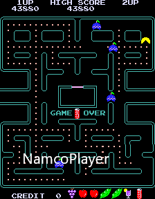 NamcoPlayer: Pac-Man Plus (Arcade Emulated / M.A.M.E.) 43,880 points on 2020-12-04 16:17:53