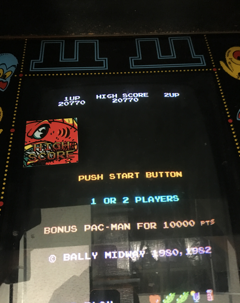 Pac-Man Plus 20,770 points