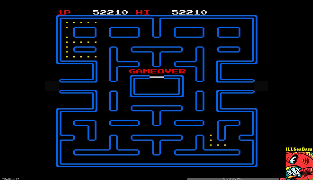 ILLSeaBass: Pac-Man (Sharp X68000 Emulated) 52,210 points on 2017-01-07 23:35:45