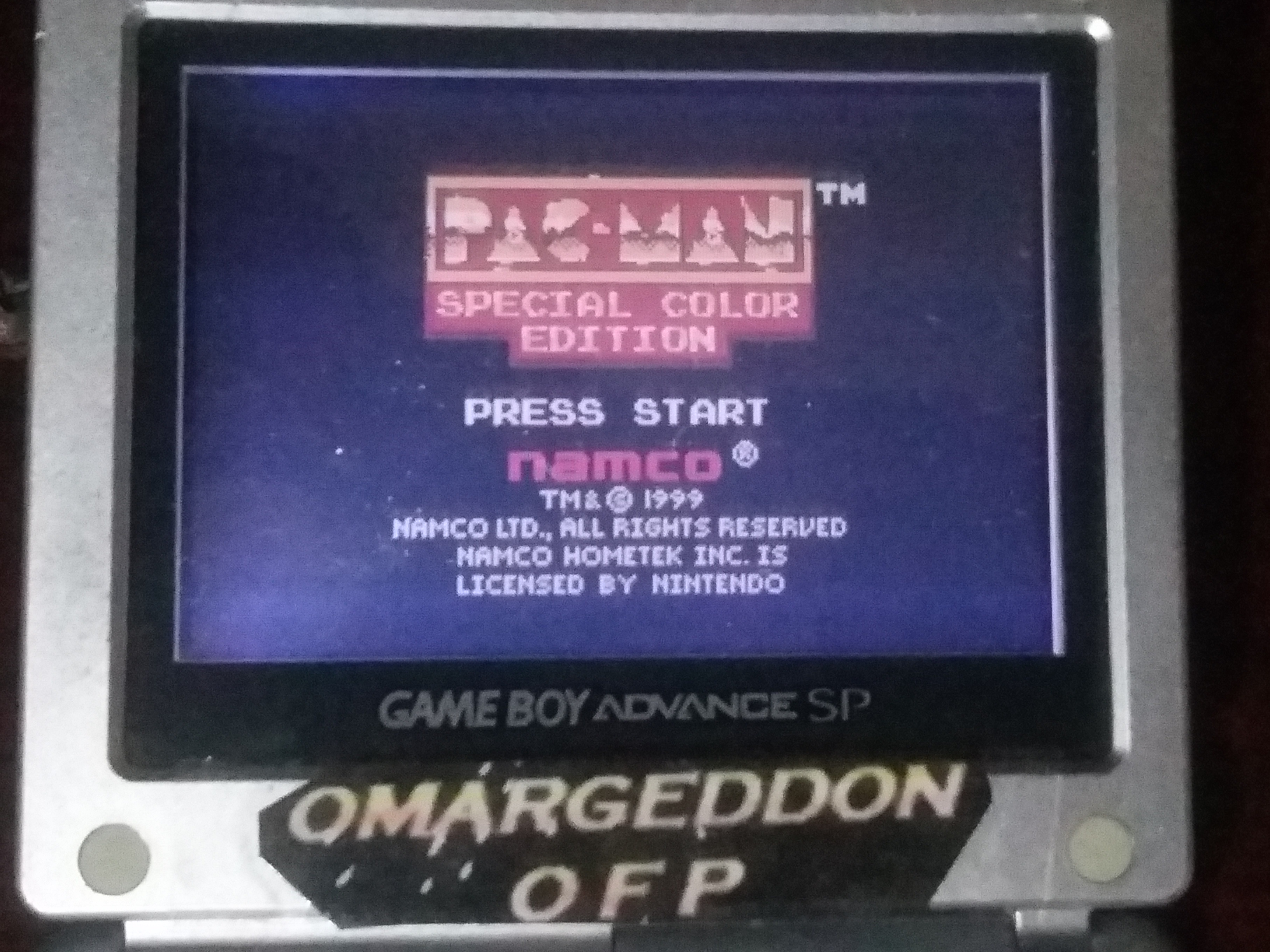 omargeddon: Pac-Man: Special Color Edition (Game Boy Color) 33,210 points on 2018-01-28 23:43:32