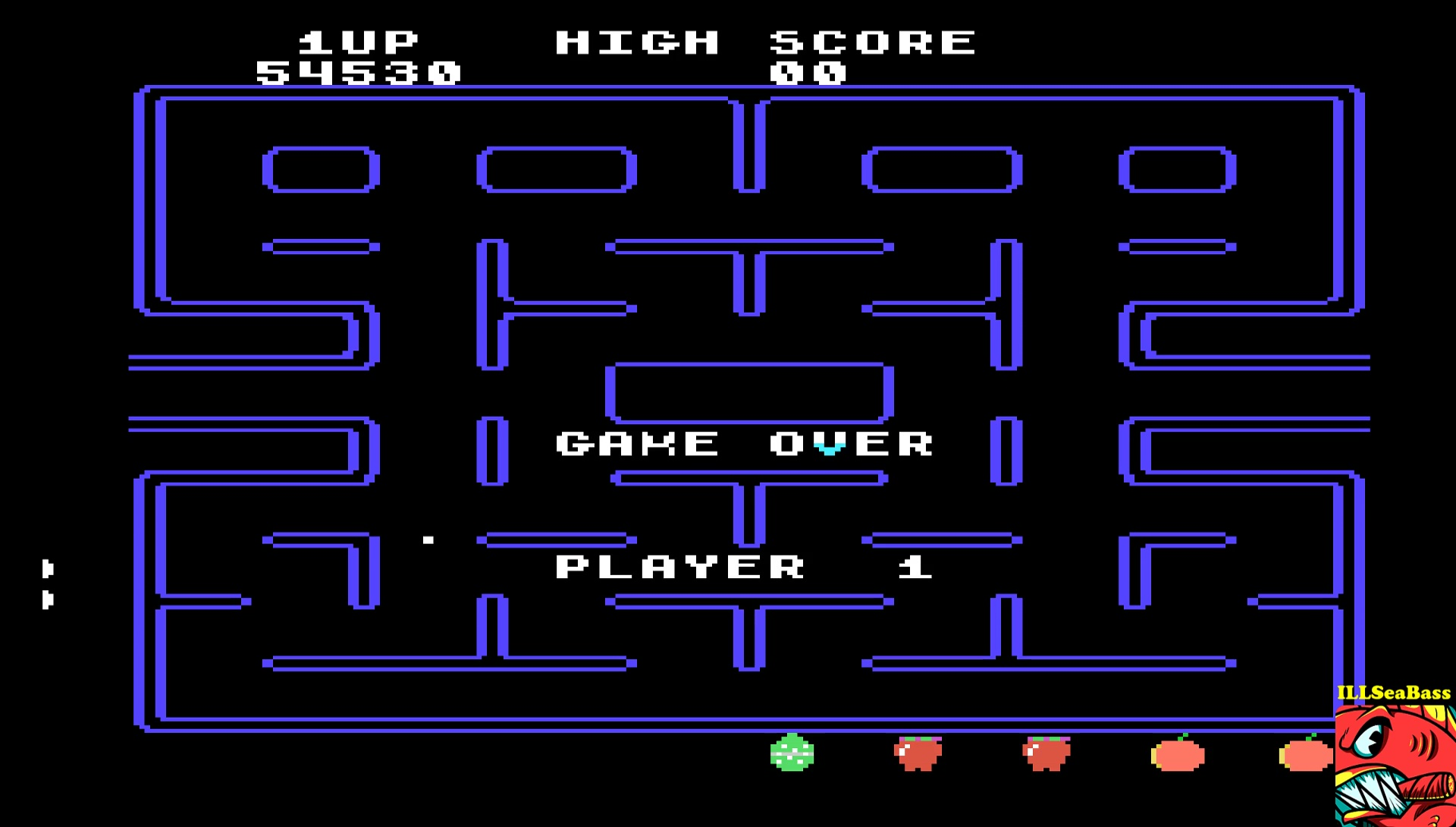 ILLSeaBass: Pac-Man (TI 99/4A Emulated) 54,530 points on 2017-05-03 15:50:03
