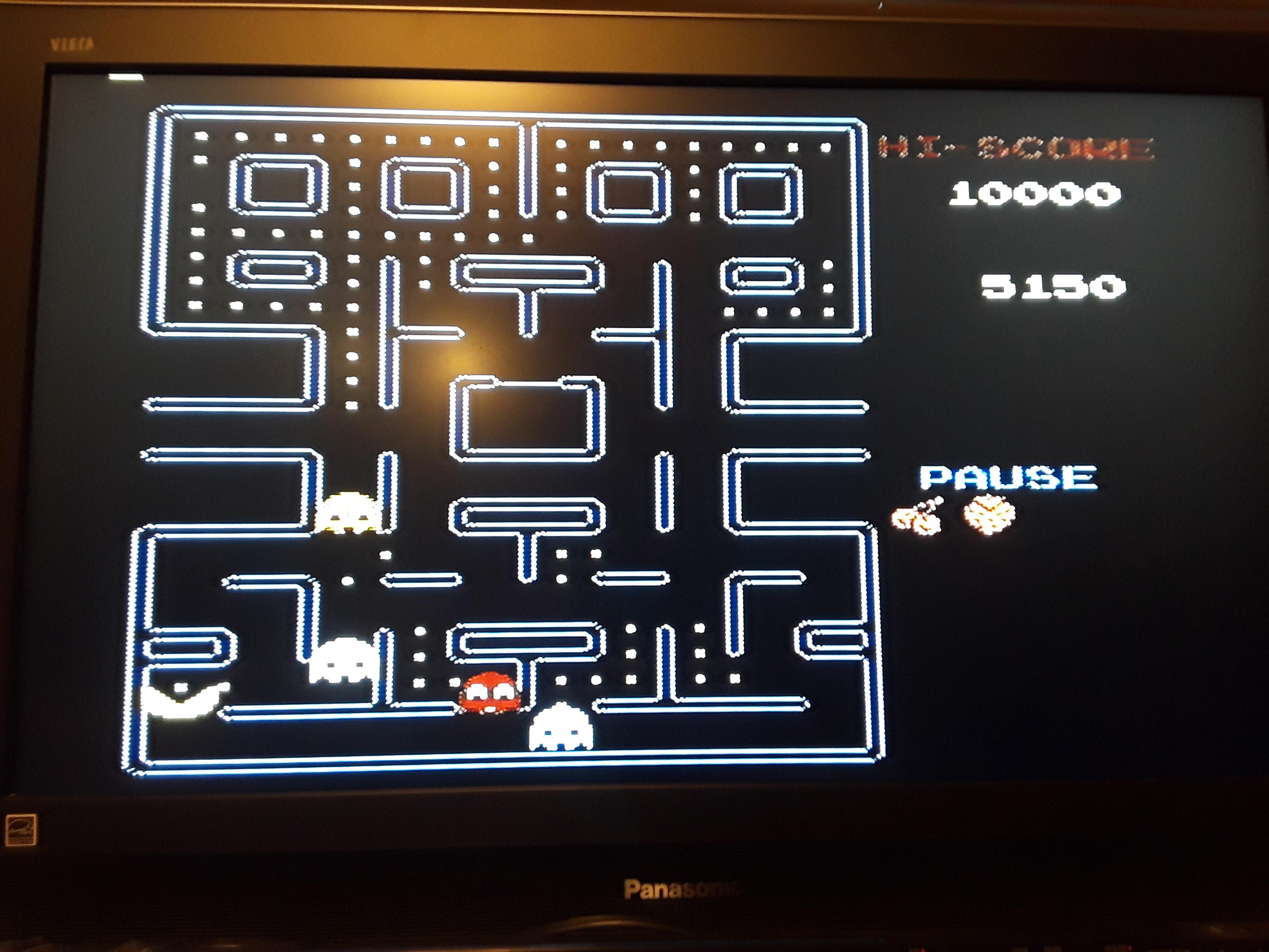 Pac-Man [Tengen] 5,150 points