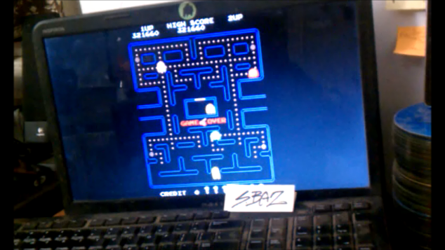 S.BAZ: Pac-Man [Turbo: 5 Lives] [pacmanf] (Arcade Emulated / M.A.M.E.) 321,660 points on 2020-08-26 19:37:02
