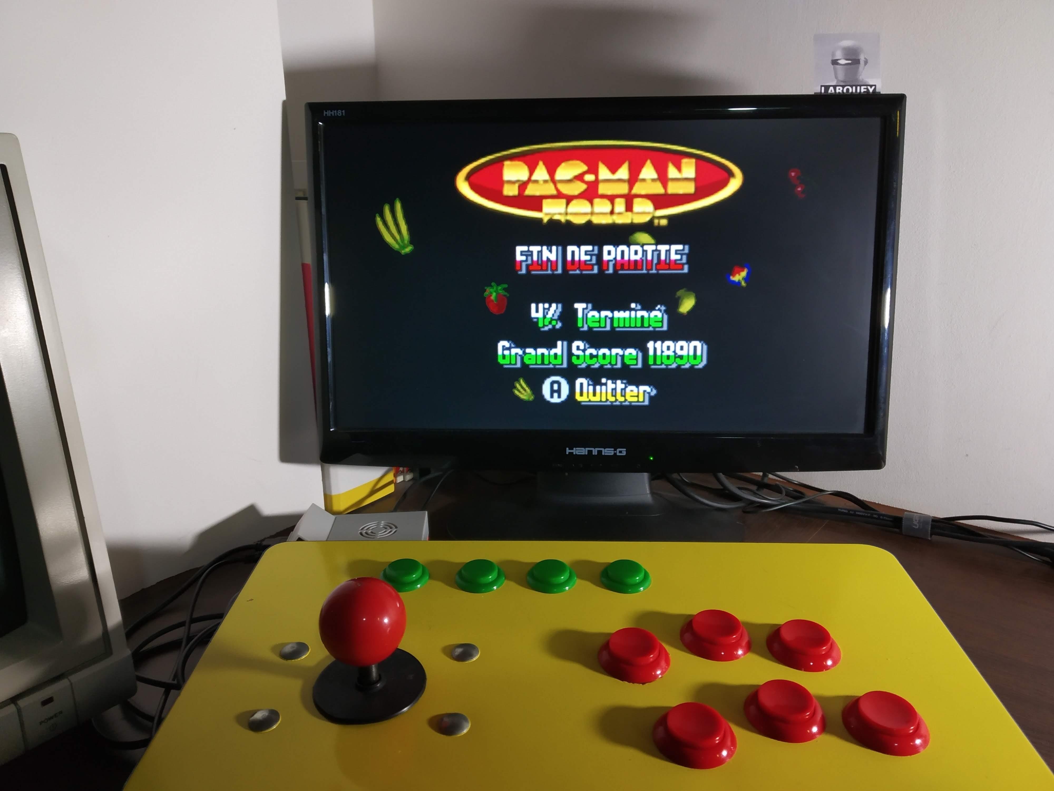 Larquey: Pac-Man World (GBA Emulated) 11,890 points on 2019-12-25 12:17:36