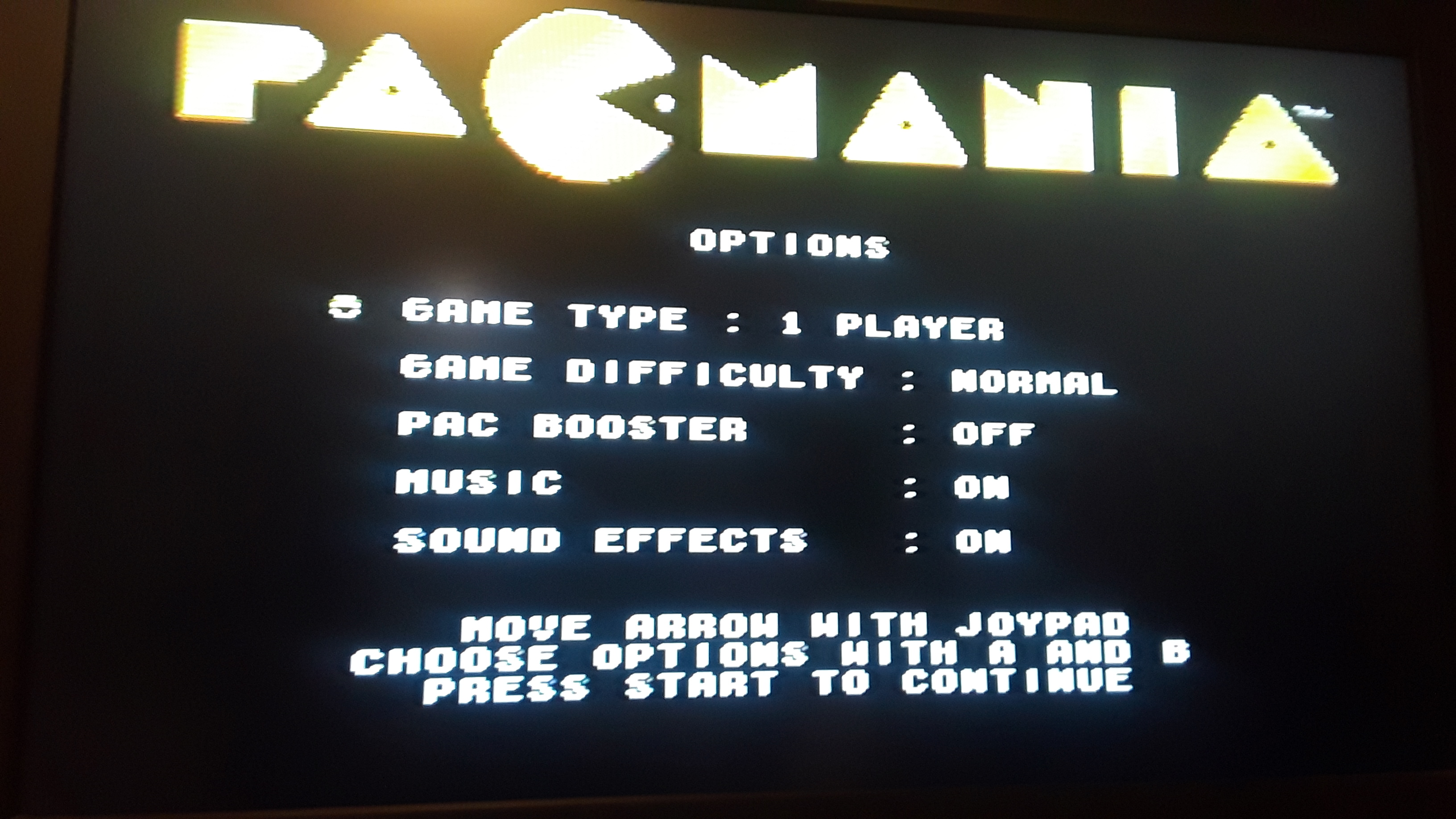 Pac-Mania [Normal/Pac Booster Off] 24,390 points