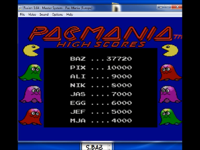 S.BAZ: Pac-Mania (Sega Master System) 37,720 points on 2018-04-08 17:34:59