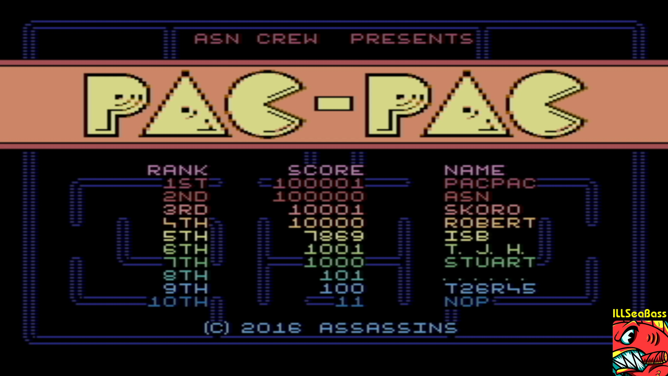 ILLSeaBass: Pac-Pac (Commodore 16/Plus4 Emulated) 7,869 points on 2018-02-05 20:01:56